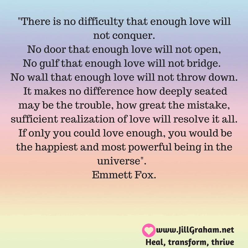 love quotation emmett fox